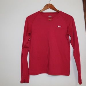 Under Armour Long Sleeve Top Red